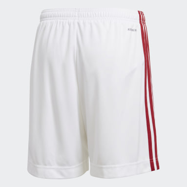 Boys Football White Arsenal Home Shorts