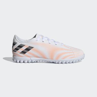 Children Football White Nemeziz.4 Turf Boots