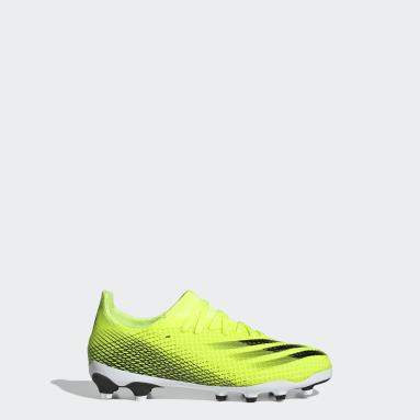 Kluci Fotbal žlutá Kopačky X Ghosted.3 Multi Ground