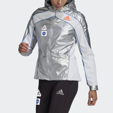 Giacca adidas Marathon Space Race Argento Donna Running