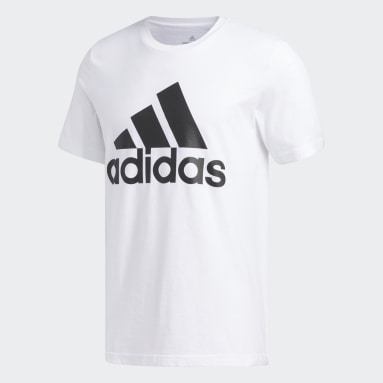 Men's Essentials White Badge of Sport Tee