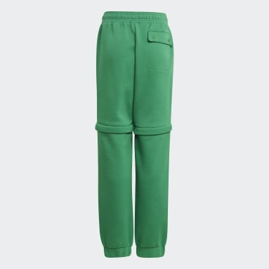 เด็ก ไลฟ์สไตล์ สีเขียว กางเกงขายาวทรงสลิมดีไซน์ทูอินวัน adidas x Classic LEGO®
