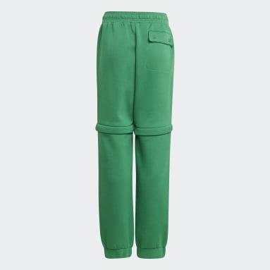 Děti Cvičení A Trénink zelená Kalhoty adidas x Classic LEGO® Two-In-One Slim