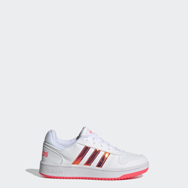 Kids Essentials White Hoops 2.0 Shoes
