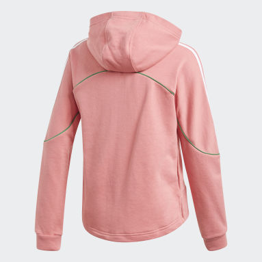 Girls Training Pink Bold Full-Zip Hoodie