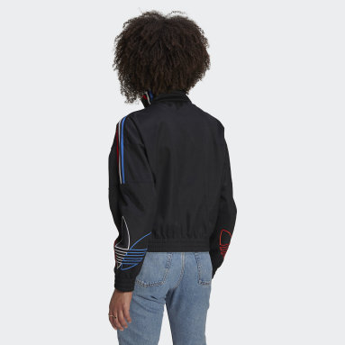 Women Originals Black Adicolor Tricolor Trefoil Primeblue Track Jacket