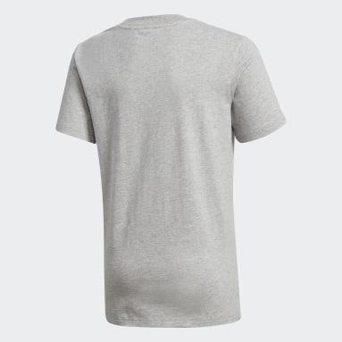 Boys Gym & Training Grey Football T-Shirt