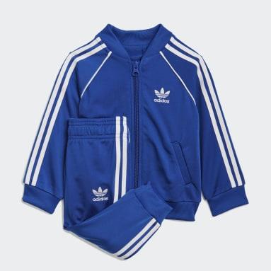 Kinder Originals Adicolor SST Trainingsanzug Blau