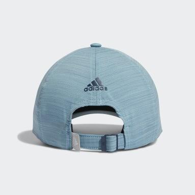 Women Golf Blue Heathered Crestable Hat