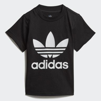 T-shirt Trefoil Preto Criança Originals