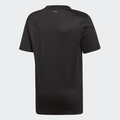 T-shirt 3-Stripes Club Noir Garçons Padel Tennis