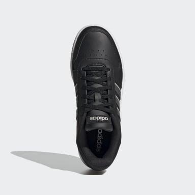 Women Walking Black Hoops 2.0 Shoes
