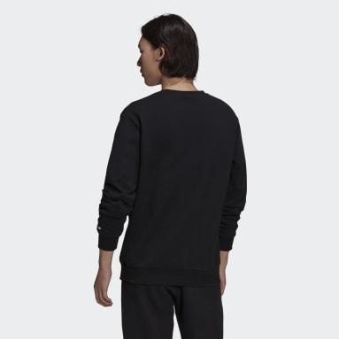 ผู้ชาย Originals สีดำ เสื้อกันหนาวคอกลม Adicolor Shattered Trefoil
