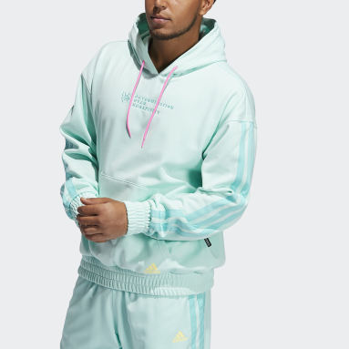 Sweat-shirt à capuche Donovan Mitchell Pullover Turquoise Hommes Basketball