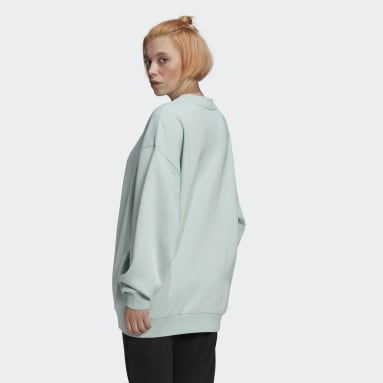 Women Originals Green Oversize Sweatshirt