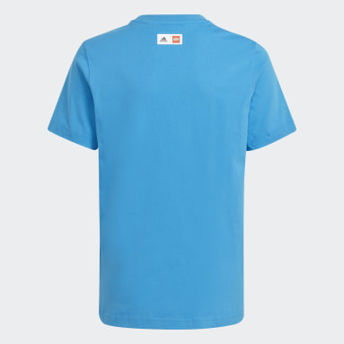 T-shirt adidas x Classic LEGO® Graphic Blu Ragazzo Fitness & Training