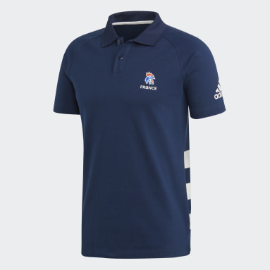Polo Fédération Française de Handball Bleu Hommes Handball