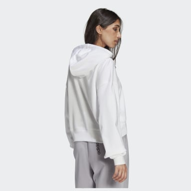 Women Originals White LOUNGEWEAR Adicolor Essentials Hoodie