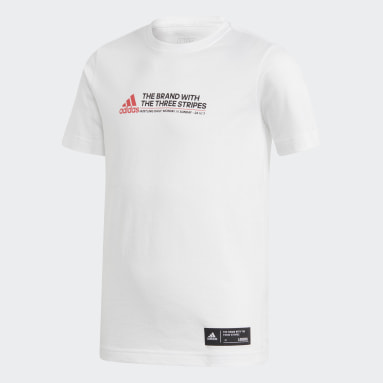 T-shirt London Bus Hustle Bianco Ragazzo Fitness & Training