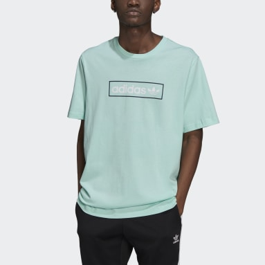 Men's Originals Turquoise Linear Logo Tee