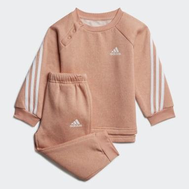 Kinderen Fitness En Training Roze Future Icons 3-Stripes Joggingpak