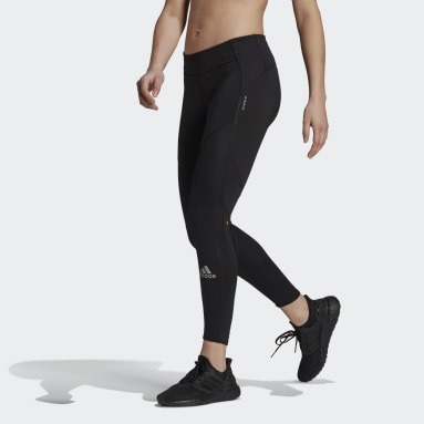 Women Running Black Fast Running Primeblue Leggings