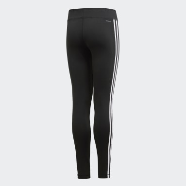 Legging Training Equipment 3-Stripes Preto Kids Training