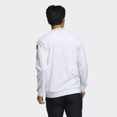 Men Golf White Equipment Wind Crew Shirt