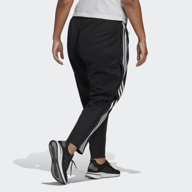 Women's Sportswear Black adidas Sportswear Wrapped 3-Stripes Snap Pants (Plus Size)