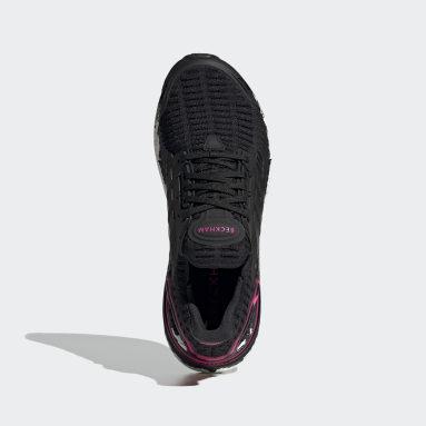 Men Running Black Ultraboost DNA x Beckham Shoes