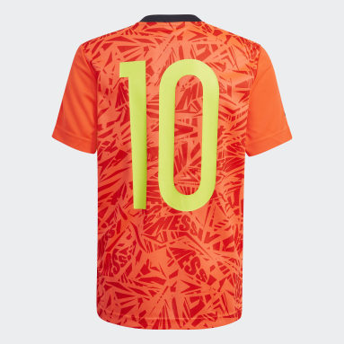 Youth 8-16 Years Gym & Training Red Messi Football-Inspired Iconic Jersey