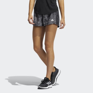 Short Pacer Woven Floral Nero Donna Fitness & Training