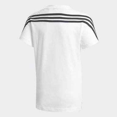 Genç Training Beyaz 3 Bantlı Pamuklu Tişört