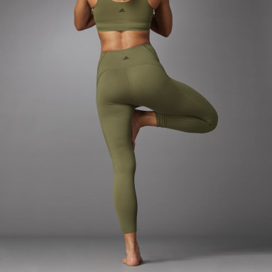 Women Studio Green Elevate Yoga Flow 7/8 Tights