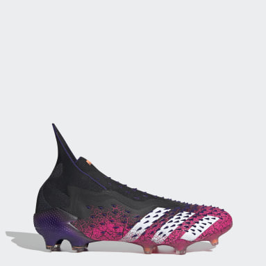 Football Black Predator Freak+ Firm Ground Boots