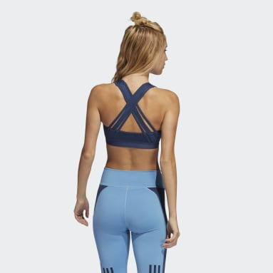 Women's Running Blue Believe This Lace-Up Bra