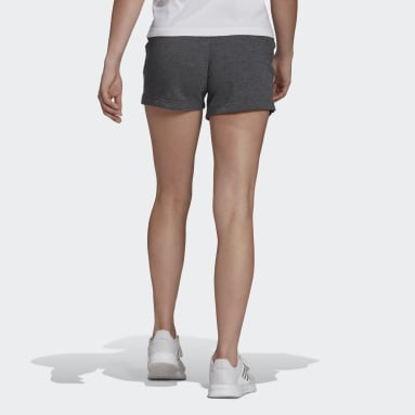 Women's Essentials Grey Essentials Slim Logo Shorts