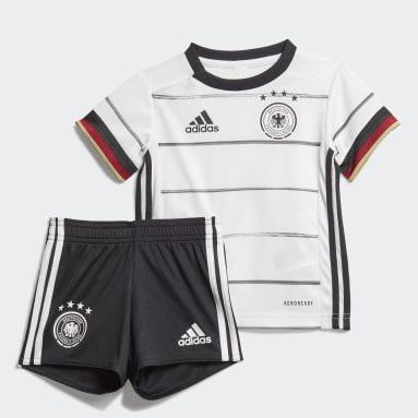 Kinderen Voetbal Wit Duitsland Baby-Thuistenue