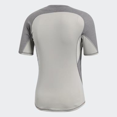 Camiseta Alphaskin Sport Heather Gris Hombre Hockey Hierba