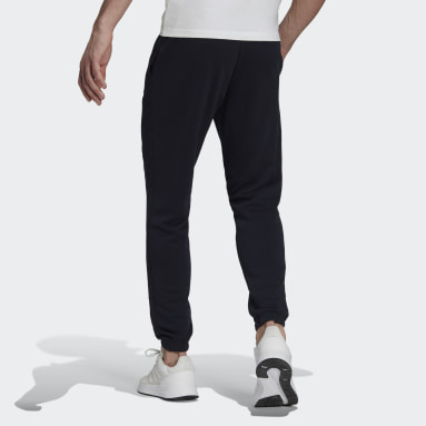 Heren Sportswear Blauw Essentials French Terry Tapered Elastic Cuff Logo Broek