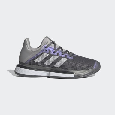 Women Tennis Grey SoleMatch Bounce Tennis Shoes