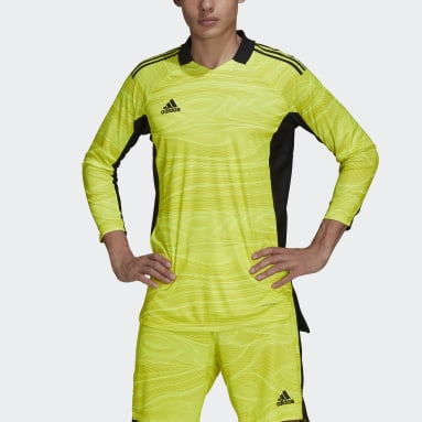 Men Soccer Yellow Condivo 21 Primeblue Long Sleeve Goalkeeper Jersey