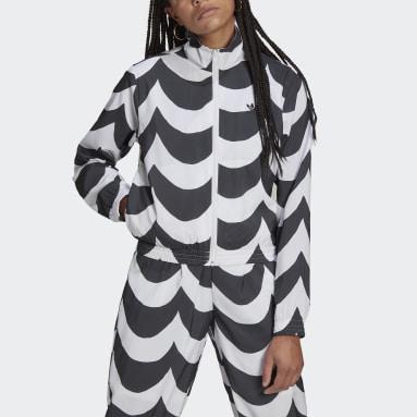 ผู้หญิง Originals สีดำ เสื้อแทรคแจ็คเก็ตผ้าทอ Marimekko