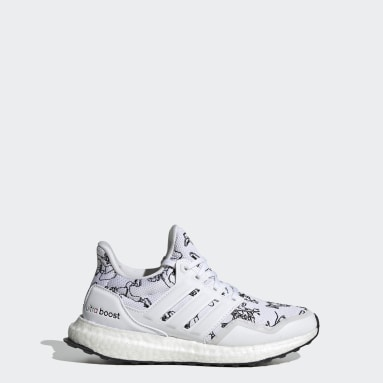 Youth Running White Ultraboost DNA Running Shoes