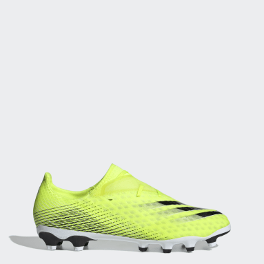 Men's Soccer Yellow X Ghosted.2 Multi-Ground Cleats