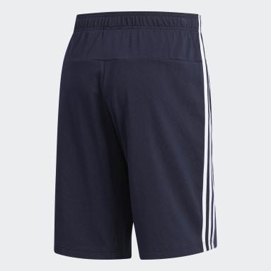 Shorts 3 Rayas Azul Hombre Diseño Deportivo