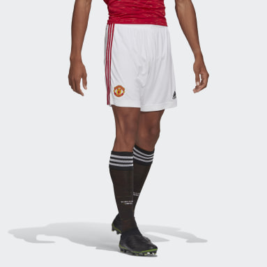Men Football White Manchester United 20/21 Home Shorts