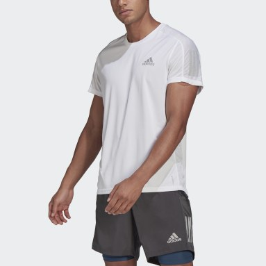 T-shirt Own the Run blanc Hommes Course