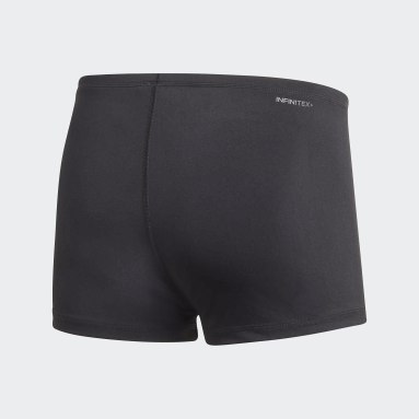 Men Swimming Black Pro Solid Swim Boxers