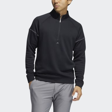 Sweat-shirt Equipment Quarter-Zip Noir Hommes Golf